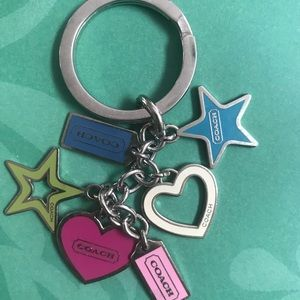 Coach charm key chain